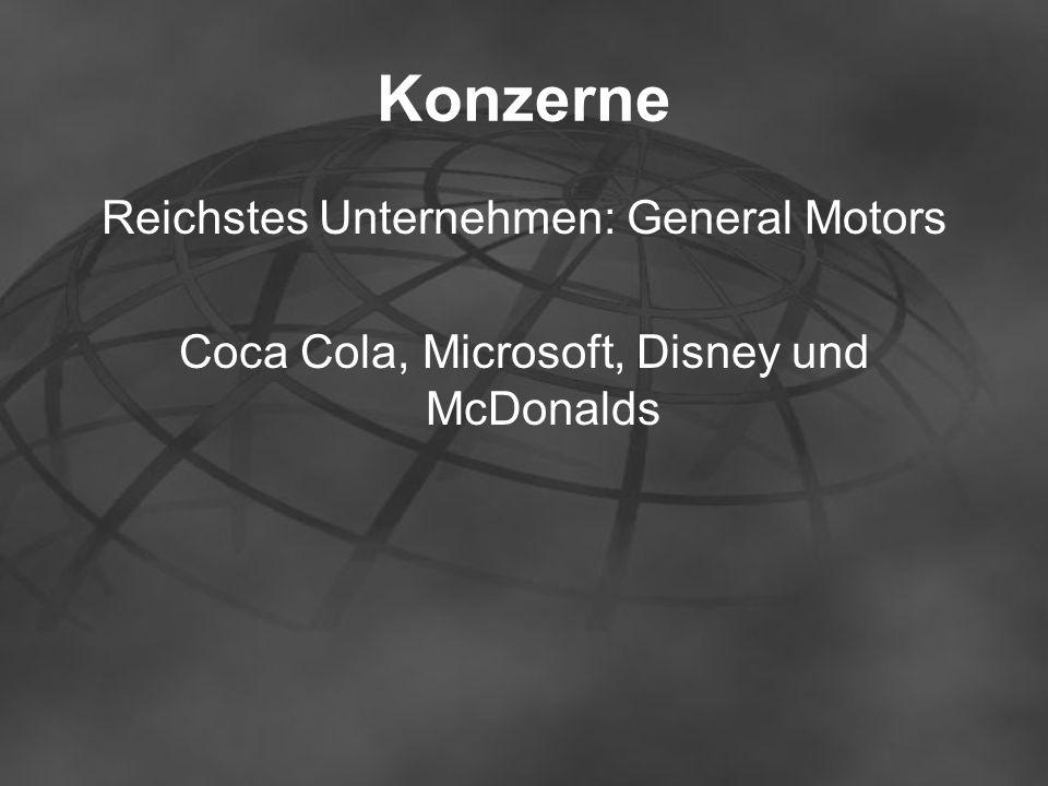 Konzerne Reichstes Unternehmen: General Motors
