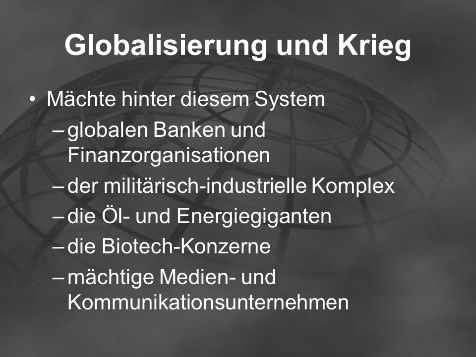 Globalisierung und Krieg