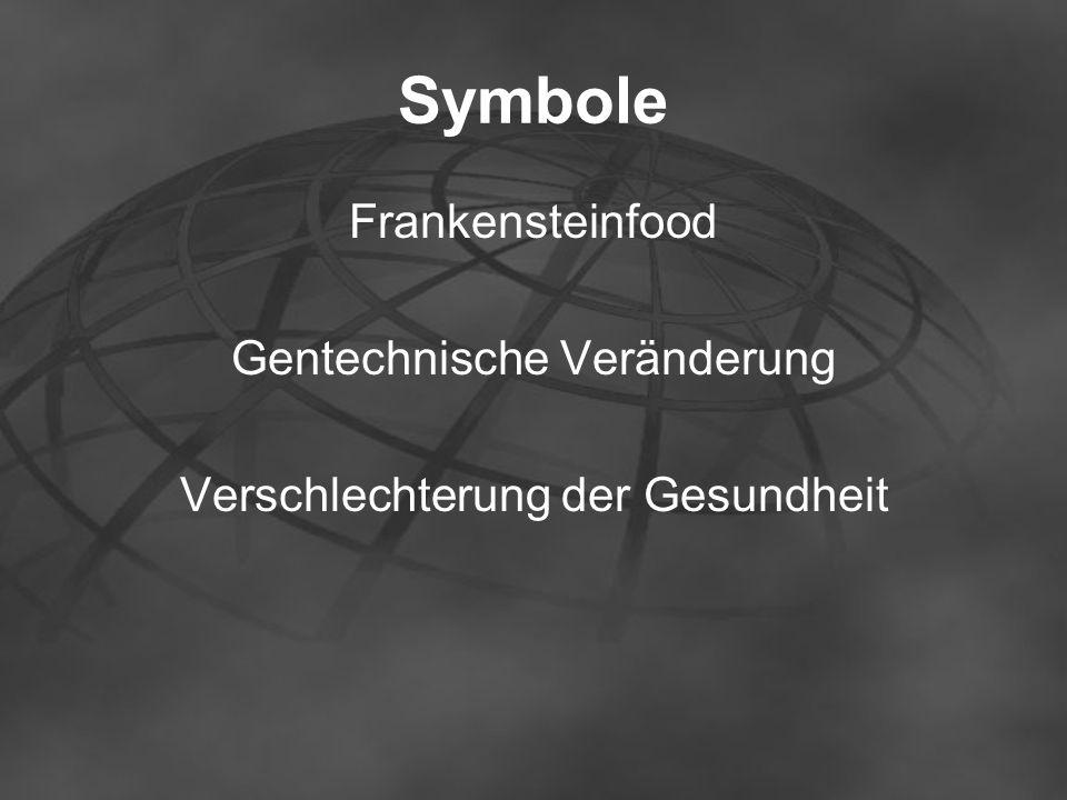 Symbole Frankensteinfood Gentechnische Veränderung