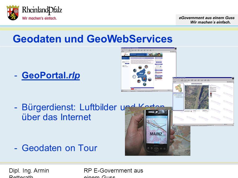Geodaten und GeoWebServices