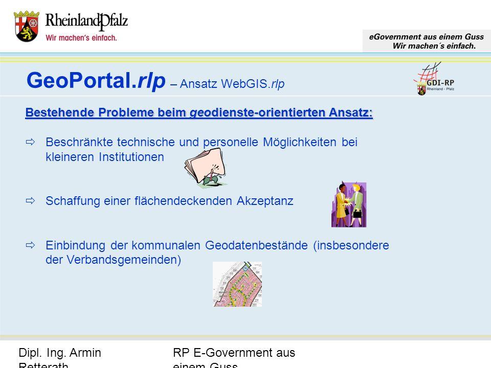 GeoPortal.rlp – Ansatz WebGIS.rlp