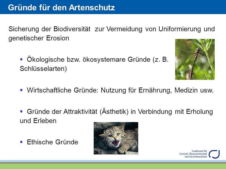 Gründe für den Artenschutz