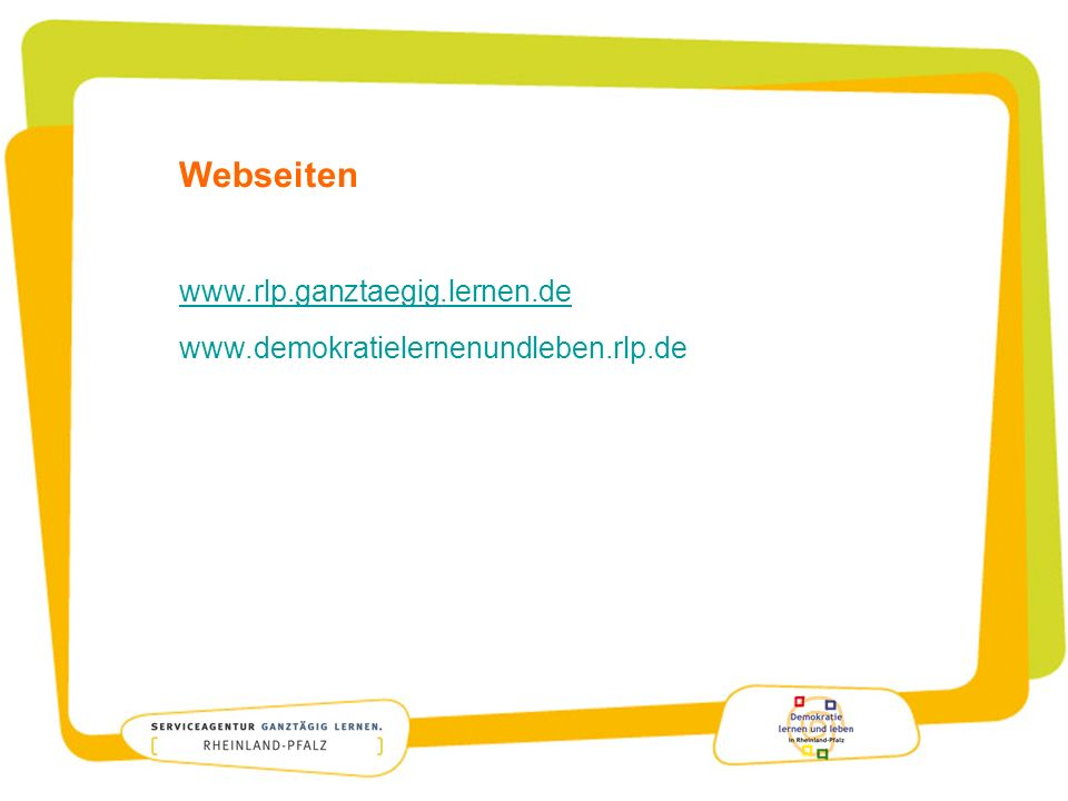 Webseiten www.rlp.ganztaegig.lernen.de