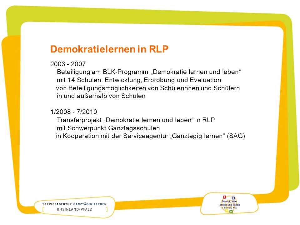Demokratielernen in RLP