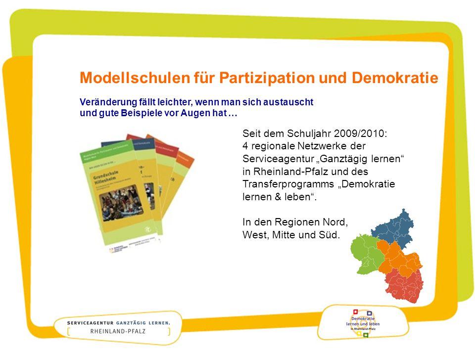 Modellschulen für Partizipation und Demokratie