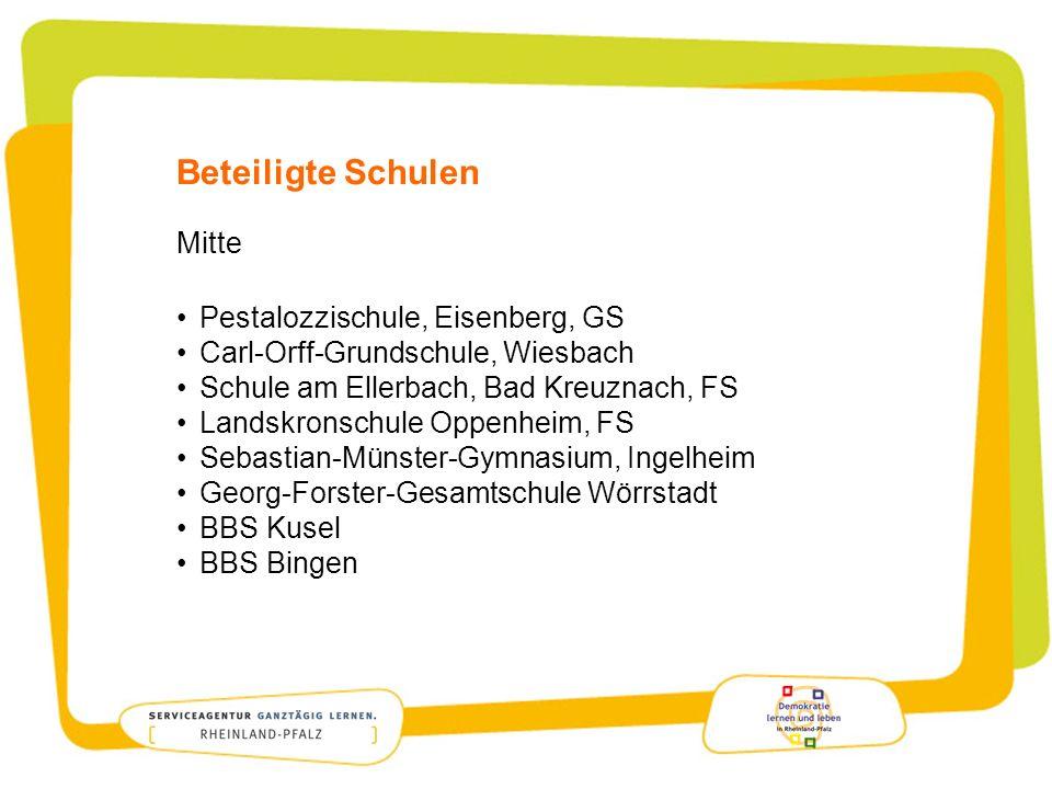 Beteiligte Schulen Mitte Pestalozzischule, Eisenberg, GS