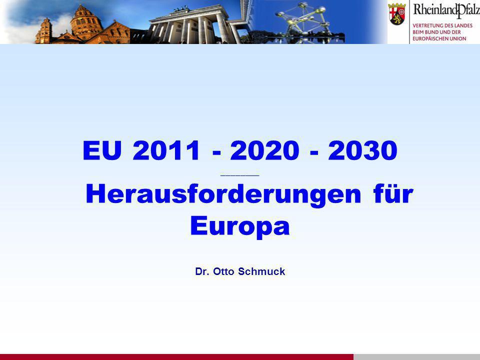 EU 2011 - 2020 - 2030 ________ Herausforderungen für Europa