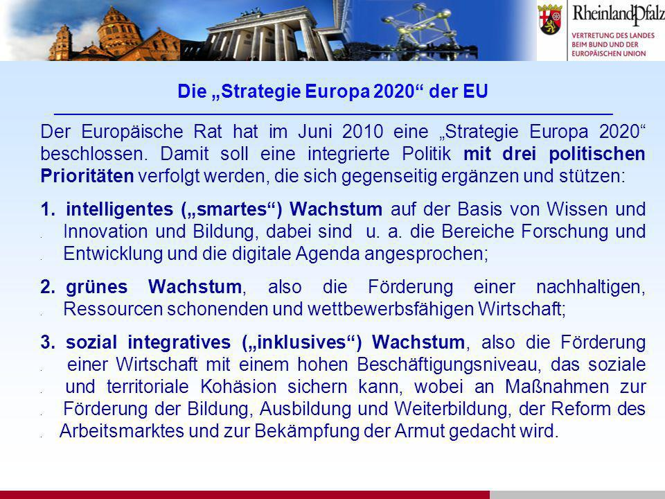 "Die ""Strategie Europa 2020 der EU ___________________________________________________________________________________________"