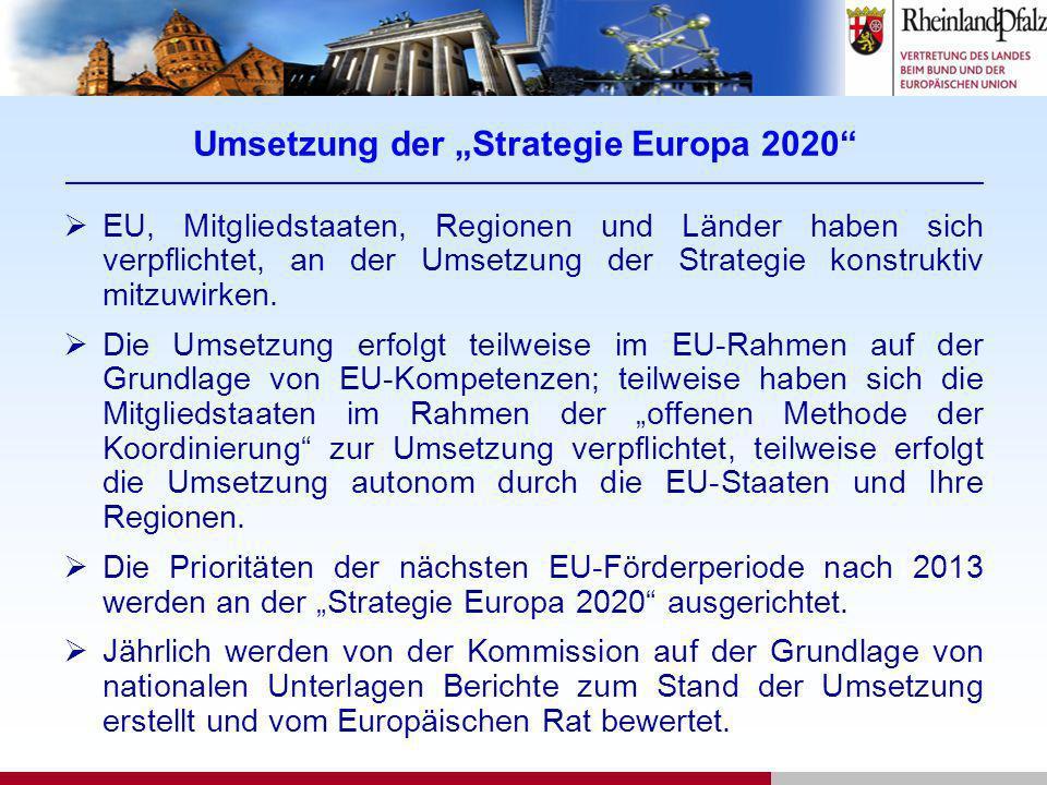 """Umsetzung der """"Strategie Europa 2020 _______________________________________________________________________________________________"""