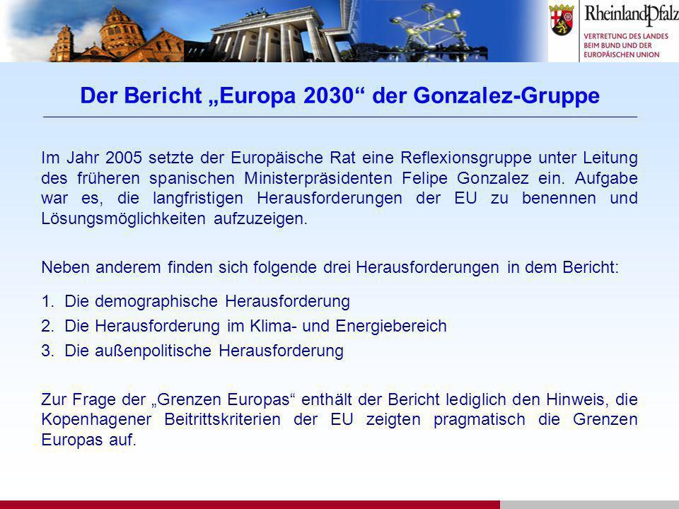 """Der Bericht """"Europa 2030 der Gonzalez-Gruppe ____________________________________________________________________________________________________________________________________________"""