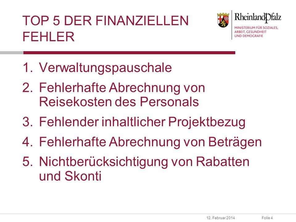 TOP 5 DER FINANZIELLEN FEHLER