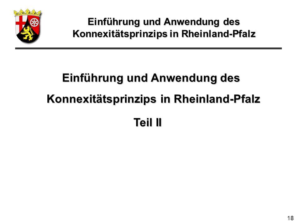 Einführung und Anwendung des Konnexitätsprinzips in Rheinland-Pfalz