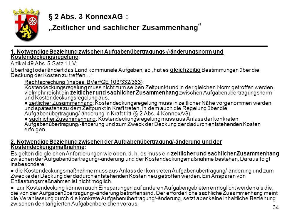 """§ 2 Abs. 3 KonnexAG : """"Zeitlicher und sachlicher Zusammenhang"""