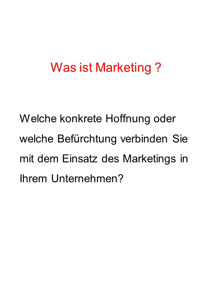 Marketing als Bündel von Instrumenten Leistungsprogramm-Management Distributions-Management Gegenleistungs-Management Kommunikations-Management Marktforschung