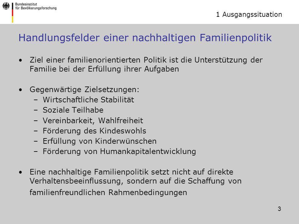 Handlungsfelder einer nachhaltigen Familienpolitik