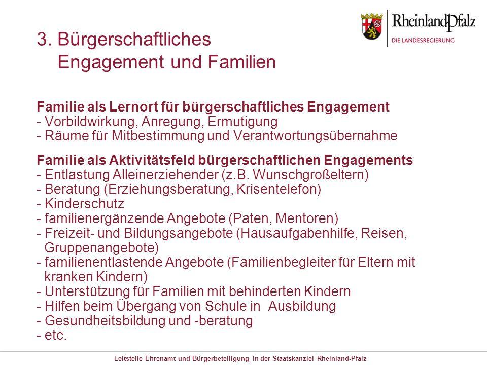 3. Bürgerschaftliches Engagement und Familien