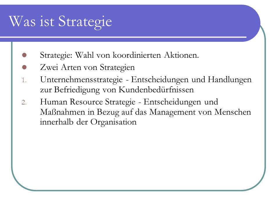 Was ist Strategie Strategie: Wahl von koordinierten Aktionen.