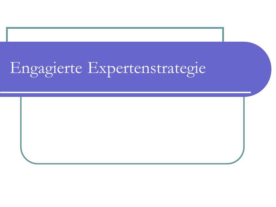 Engagierte Expertenstrategie