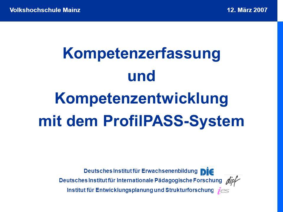 Kompetenzerfassung und Kompetenzentwicklung mit dem ProfilPASS-System
