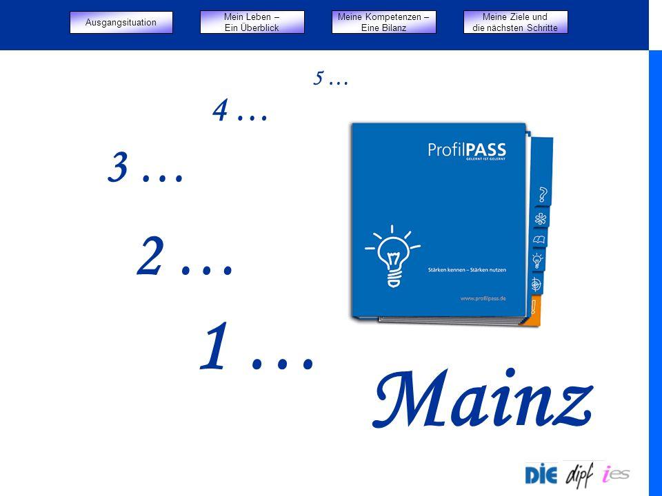 Mainz 1 … 2 … 3 … 4 … 5 … Start Ausgangsituation Mein Leben –