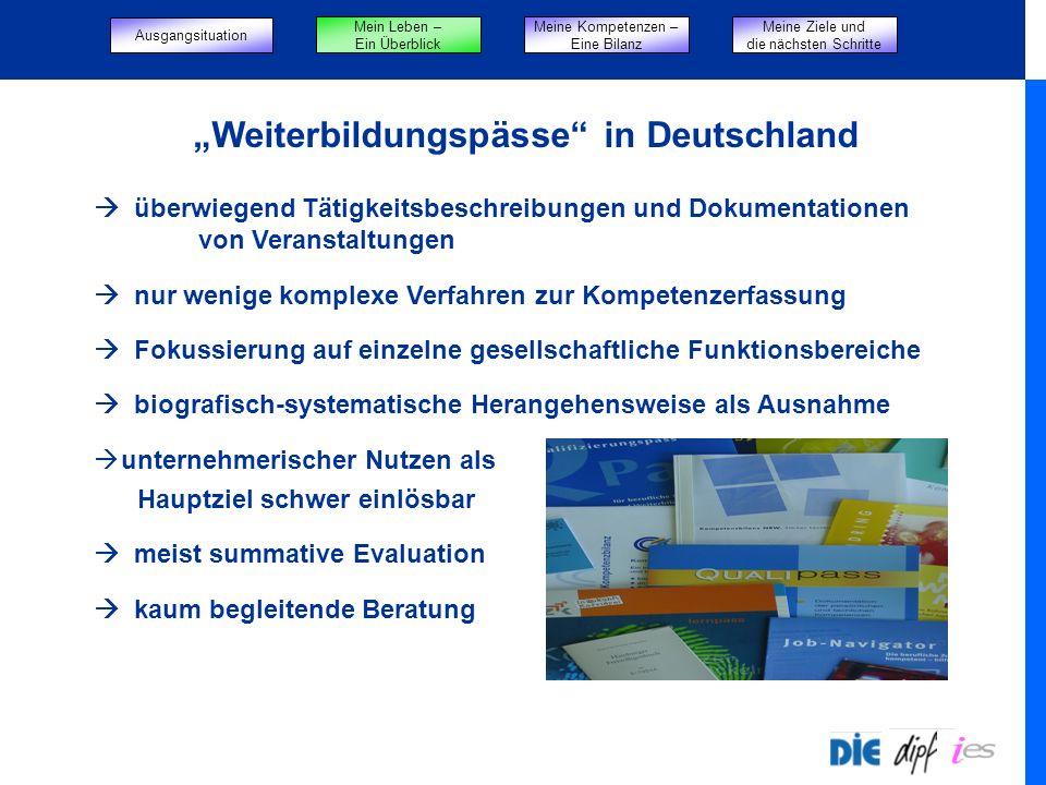 """""""Weiterbildungspässe in Deutschland"""