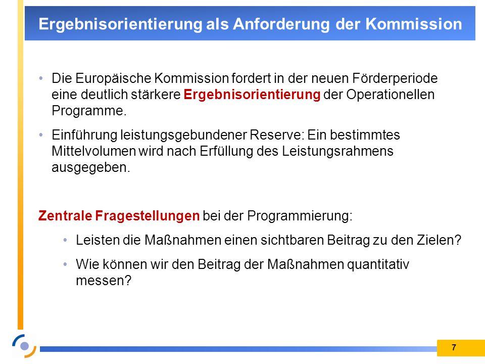 Ergebnisorientierung als Anforderung der Kommission