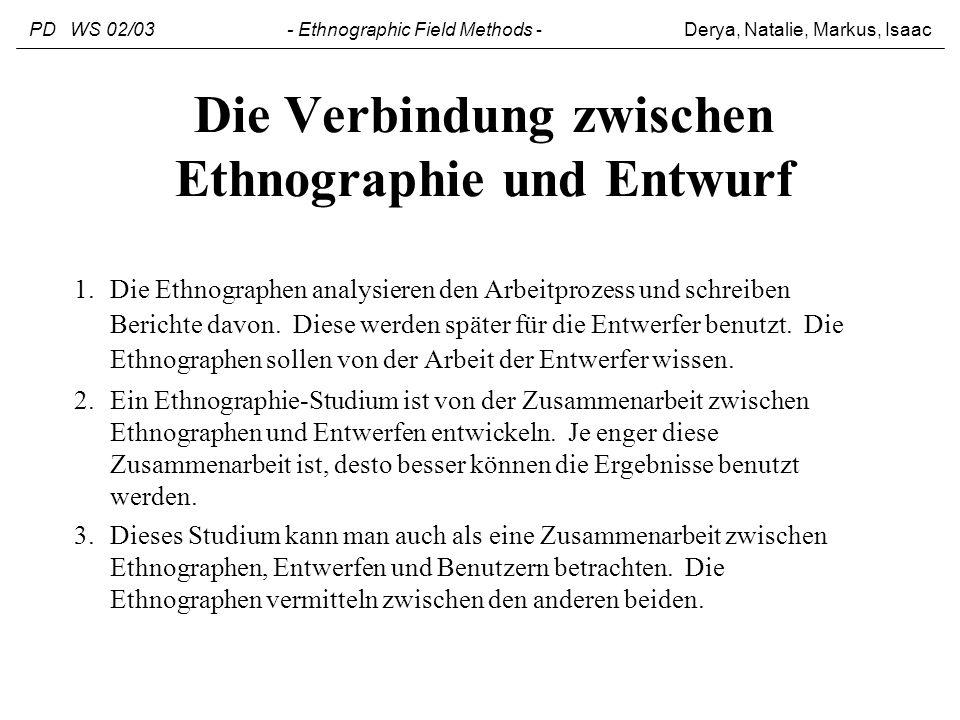 Die Verbindung zwischen Ethnographie und Entwurf