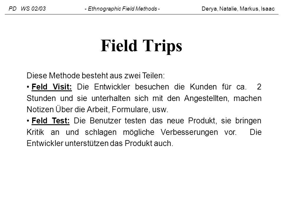 Field Trips Diese Methode besteht aus zwei Teilen: