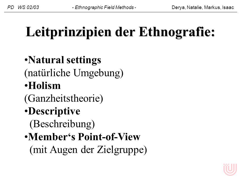 Leitprinzipien der Ethnografie: