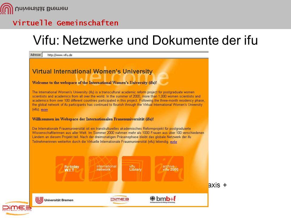 Vifu: Netzwerke und Dokumente der ifu