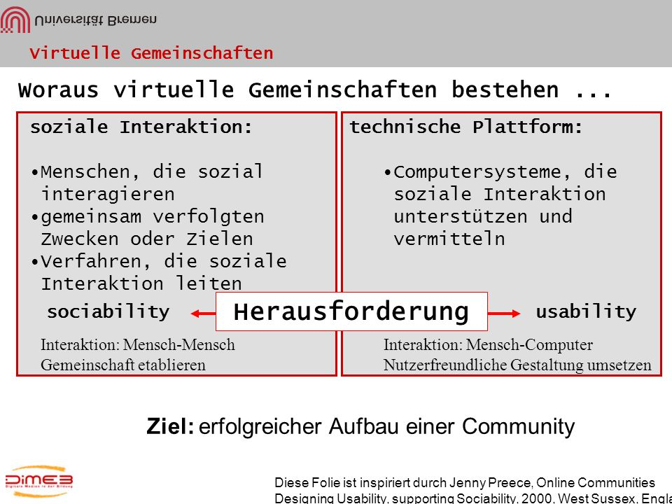 Herausforderung Woraus virtuelle Gemeinschaften bestehen ...