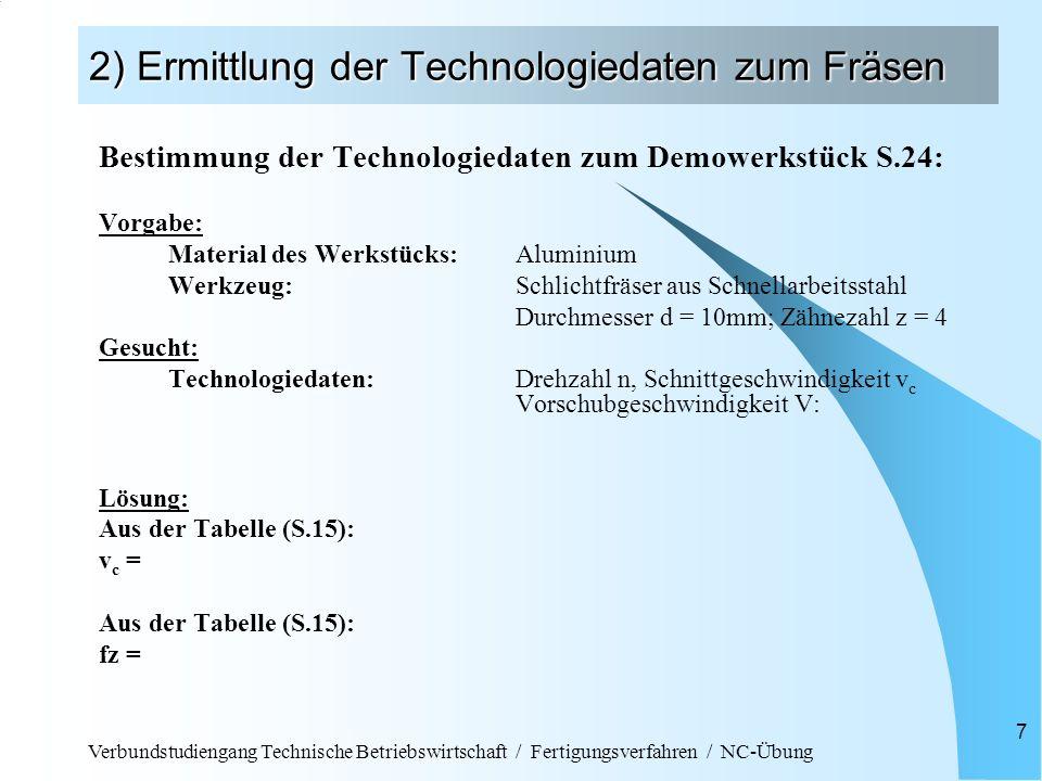 Fach fertigungsverfahren autor behmer kaiser ppt video online herunterladen - Vorschubgeschwindigkeit frasen tabelle ...