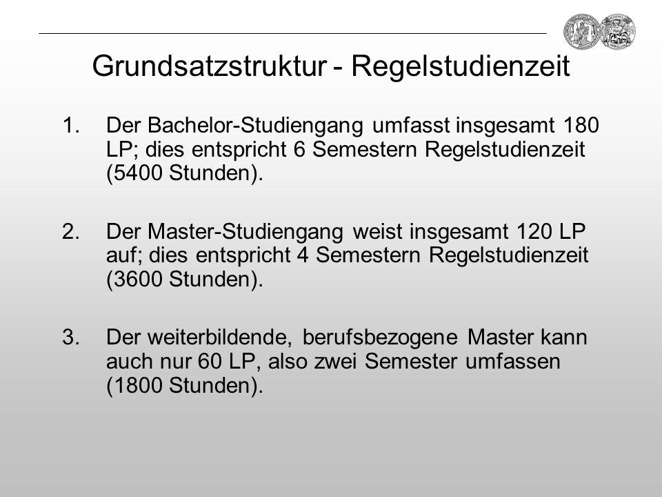 Grundsatzstruktur - Regelstudienzeit