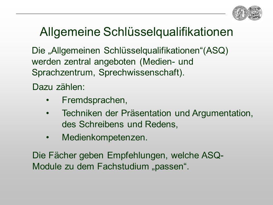 Allgemeine Schlüsselqualifikationen