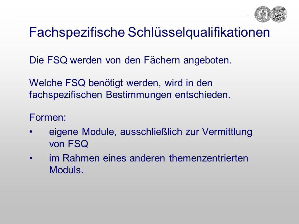 Fachspezifische Schlüsselqualifikationen