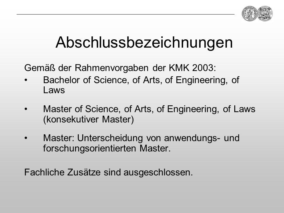 Abschlussbezeichnungen