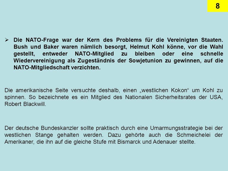 Die NATO-Frage war der Kern des Problems für die Vereinigten Staaten
