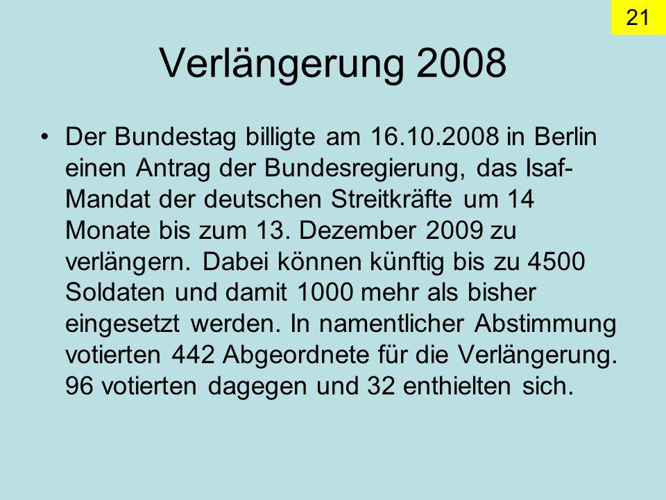 Verlängerung 2008