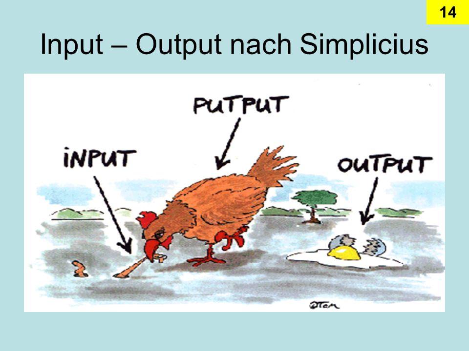 Input – Output nach Simplicius