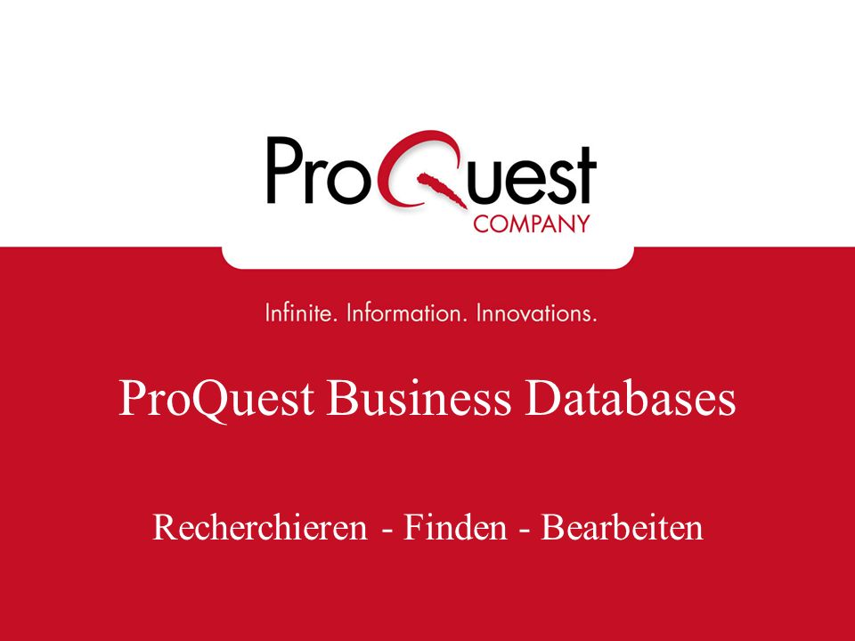 ProQuest Business Databases