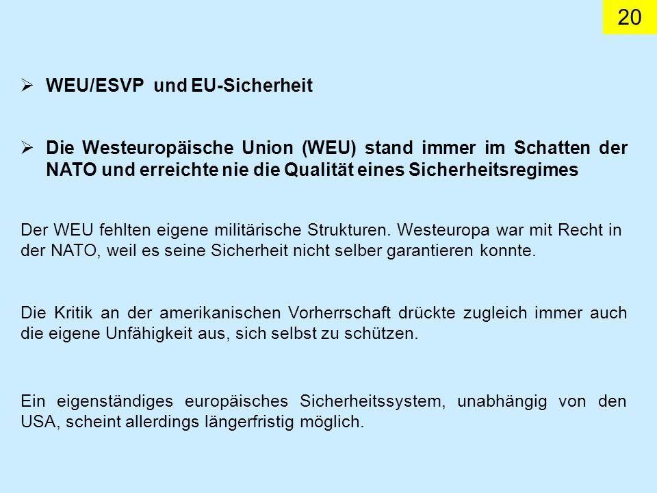 WEU/ESVP und EU-Sicherheit