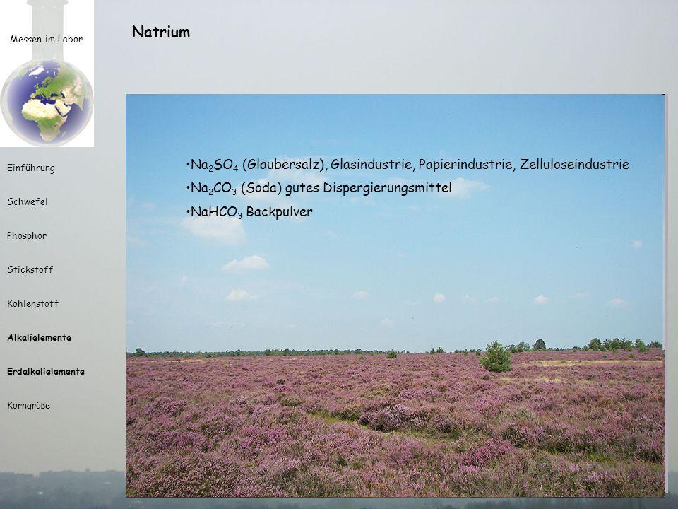 Natrium natron = arabisch für Soda (wadi natrun in Ägypten)