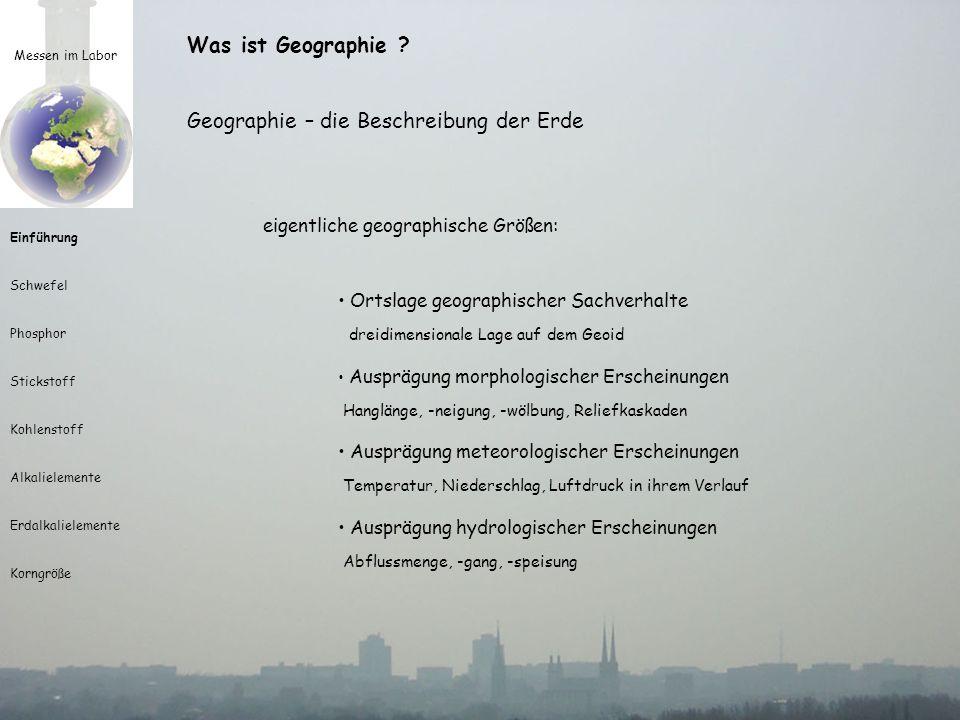 Geographie – die Beschreibung der Erde