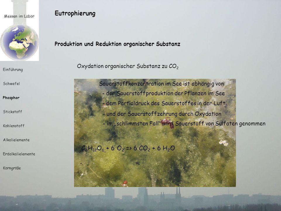 - und der Sauerstoffzehrung durch Oxydation