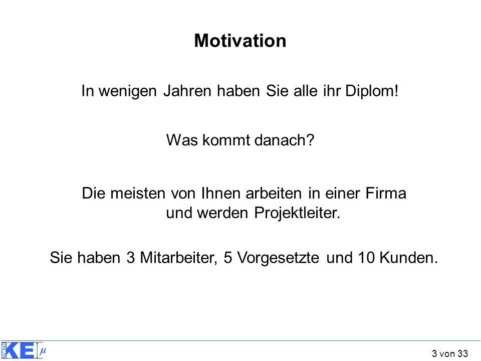 Motivation In wenigen Jahren haben Sie alle ihr Diplom!