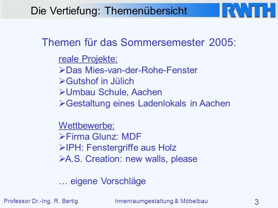 Themen für das Sommersemester 2005: