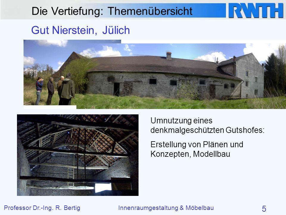 Gut Nierstein, Jülich Umnutzung eines denkmalgeschützten Gutshofes: