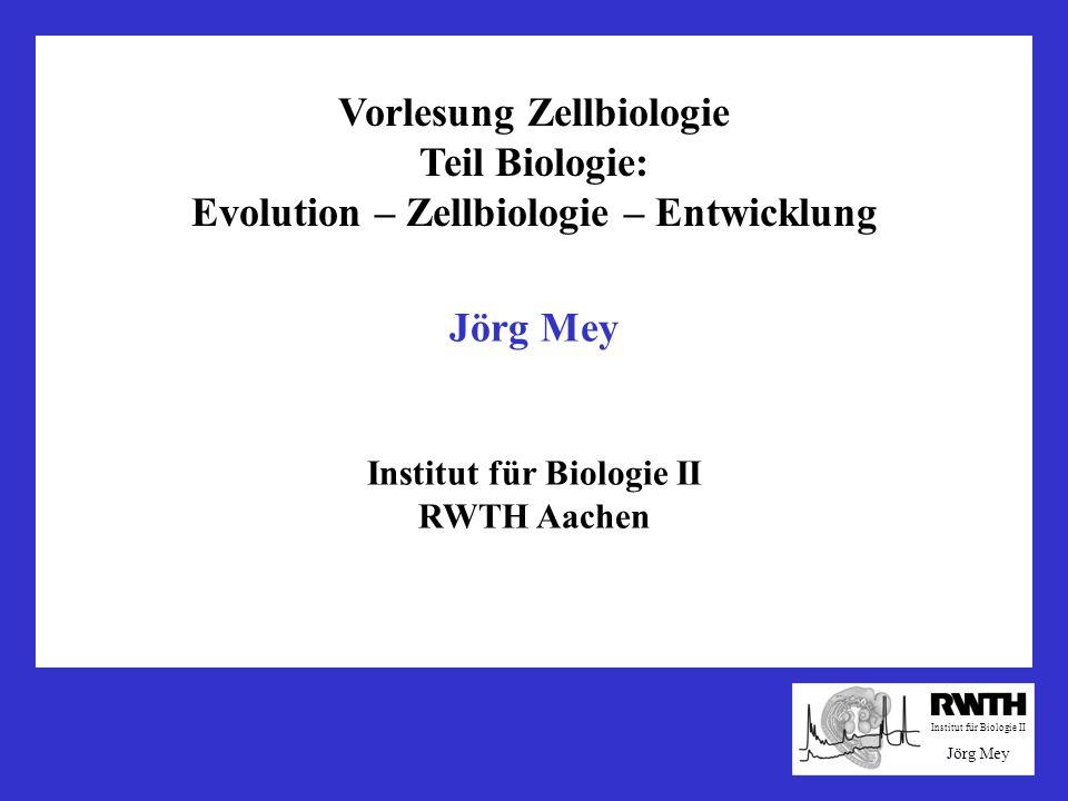Vorlesung Zellbiologie Teil Biologie: