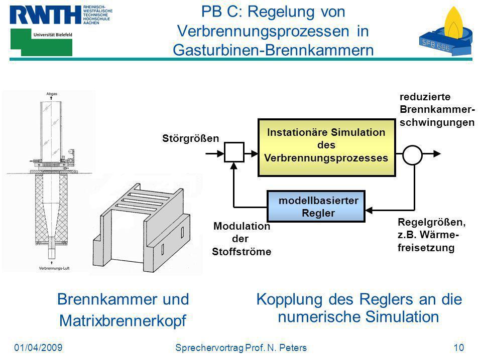 PB C: Regelung von Verbrennungsprozessen in Gasturbinen-Brennkammern