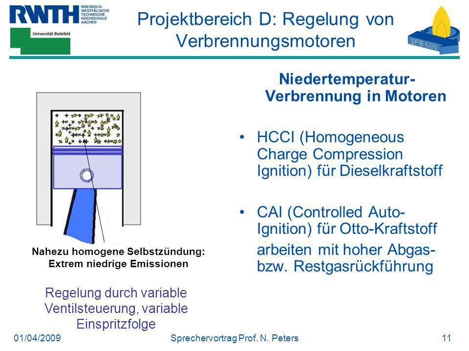 Projektbereich D: Regelung von Verbrennungsmotoren